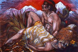 Southwest Pieta 1983, Lithograph, 30 x 40 inches, $9,000.00