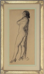 Maynard Dixon Nude 1933 Charcoal 25 x 11.75 inches $15,000.00
