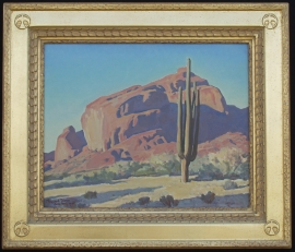 Maynard Dixon oil 16 x 20 inches with original hand carved Dixon Signature Frame. NFS Private Collection