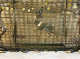 Hand Forged Fireplace Screen Detail 1