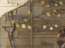 Hand Forged Fireplace Screen Detail 2