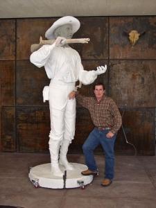 Mormon Battalion Monument 10' Plaster Sculpture Model
