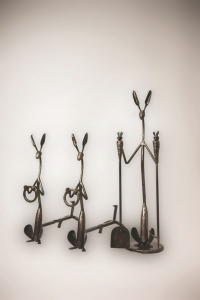 Shoshone Jackrabbit Fireplace Tools Hand forged steel $4,500.00
