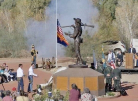 U.S. Army of the West, Mormon Battalion Monument Ceremony, Yuma, Arizona 2007