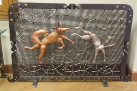 Hand Forged Fireplace Screen Rick Merrill