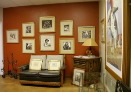 Blockprints by Lon Megargee with hand carved signature framing