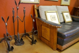 Rick Merrill metal art and Molesworth furniture