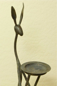 Thomas Molesworth Inspired Jack Rabbit Ashtray by Rick Merrill 37H x 9W x 12D inches $1,800.00 Detail 2