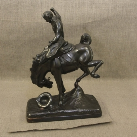 Till Goodan Saddle Bronc Sculpture, Second view