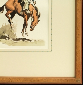 Maynard Dixon - Detail - Framing