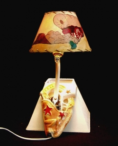 CERAMIC WAL L HANGING SCONCE LAMP 15 IN H