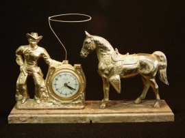 COWBOY LARIT CLOCK $250.00 Inquire about the many others we have