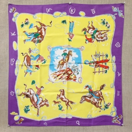 MINT WESTERN MOTIF SCARF, PURPLE Inquire about the many others we have