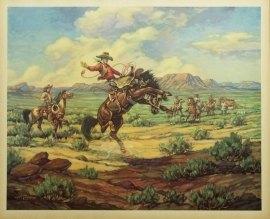 Bronc Peeler Till Goodan 26X31Price on Request for individual print. Set of six $1000.00, free shipping