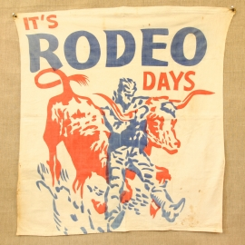 VINTAGE RODEO BANNER $155.00, shipping included