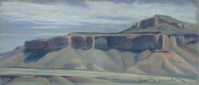 Ed Mell Landscape Mogollon Rim Oil on Canvas 8′ x 3′