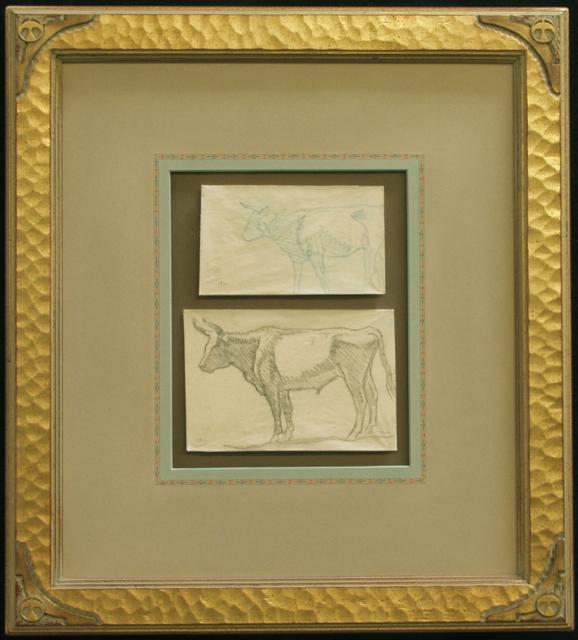Study of Steers, Refuge Ranch, Utah 1921